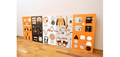 Activity panel center - Orange, Black, Gray and White