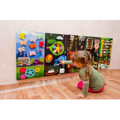 Activity play panel Forest camping