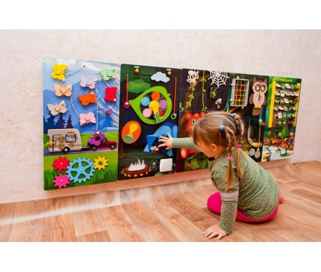 What can I use a Busy Board for: items used on Sensory Walls?