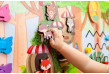 wooden busy board for kids