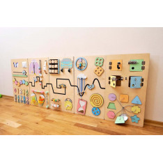 Educational wall toy in Pastel colors