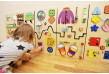 Play wall panel for kid's play area