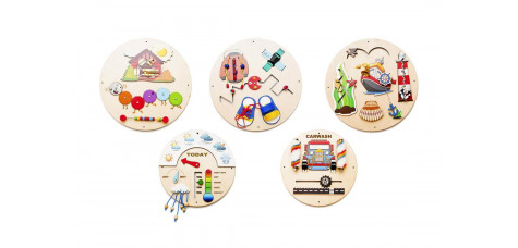 Round busy board 5 pcs set - small size