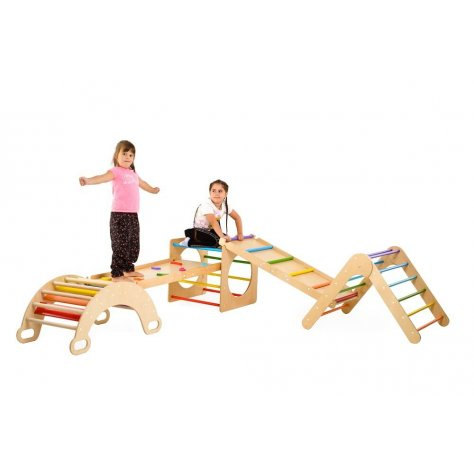 Climbing set of 5 Items colored